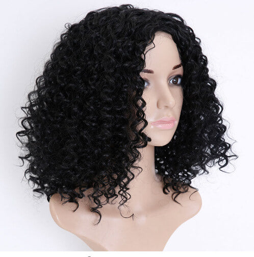 Curly Bob Wigs Afro Curly Wigs For Black Women Synthetic Heat Resistant Fiber Wigs