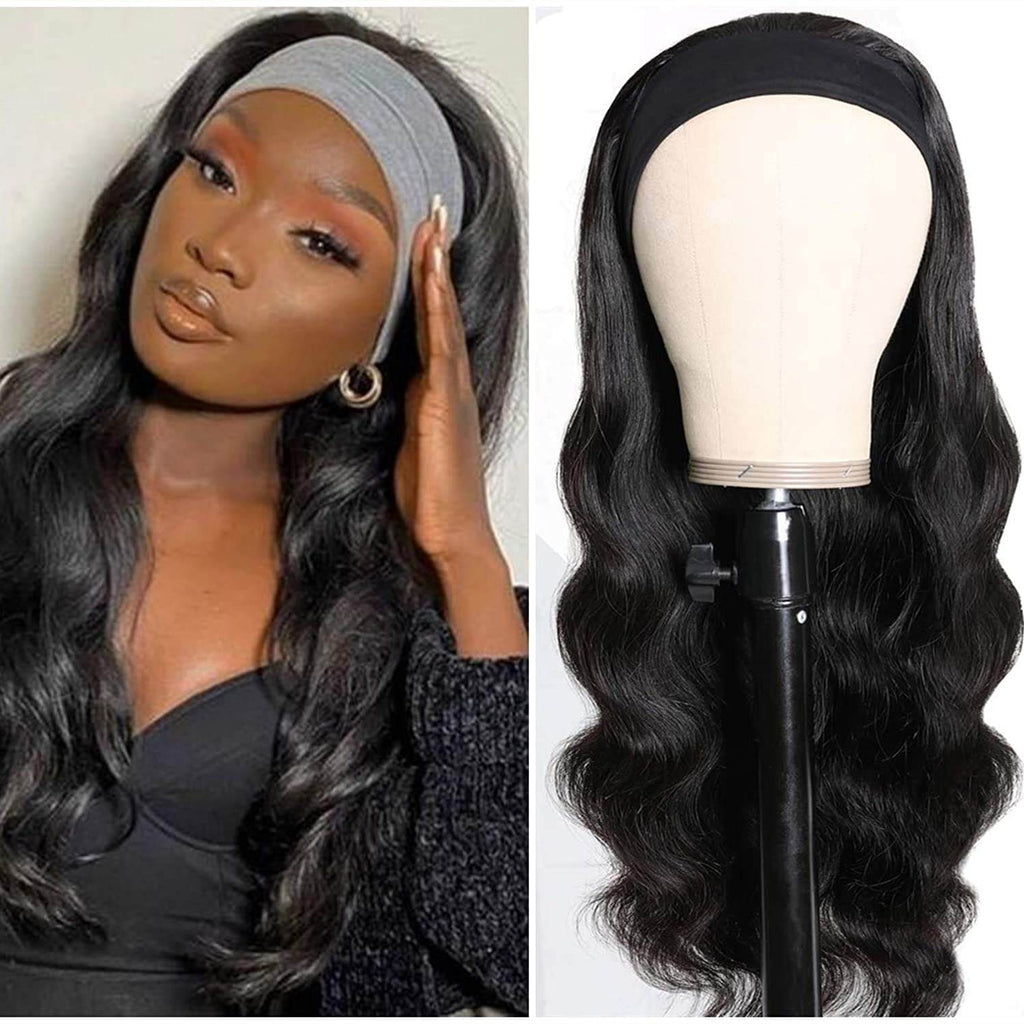 Body Wave Human Hair Wigs With HeadBand