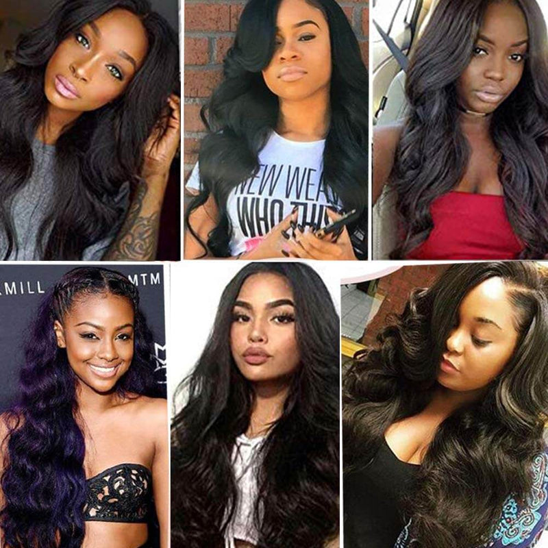 Body Wave Lace Front Wigs Human Hair Customers Show