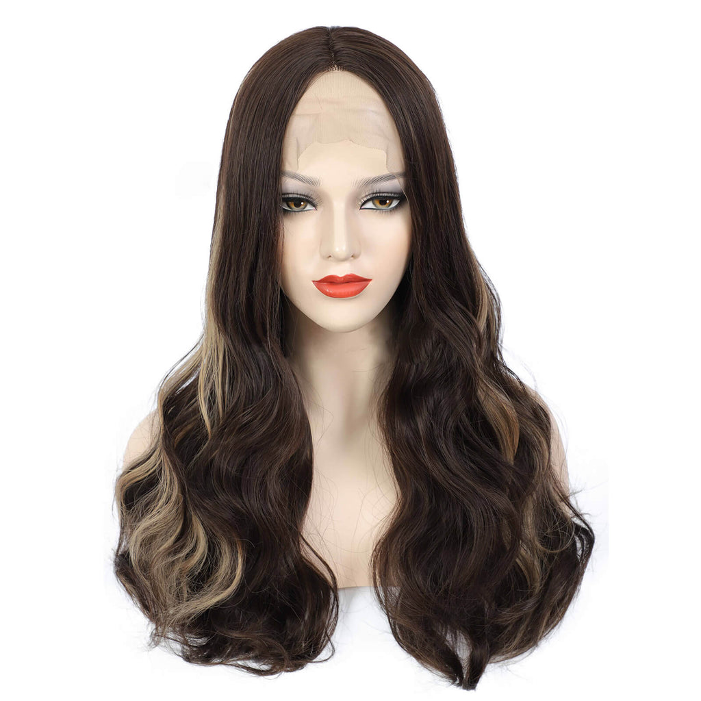 Body Wave Lace Front Wigs Piano Color Wigs Synthetic Front Show