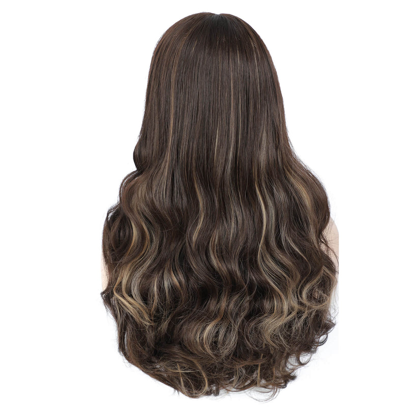 Body Wave Lace Front Wigs Piano Color Wigs Synthetic Hair Back Show
