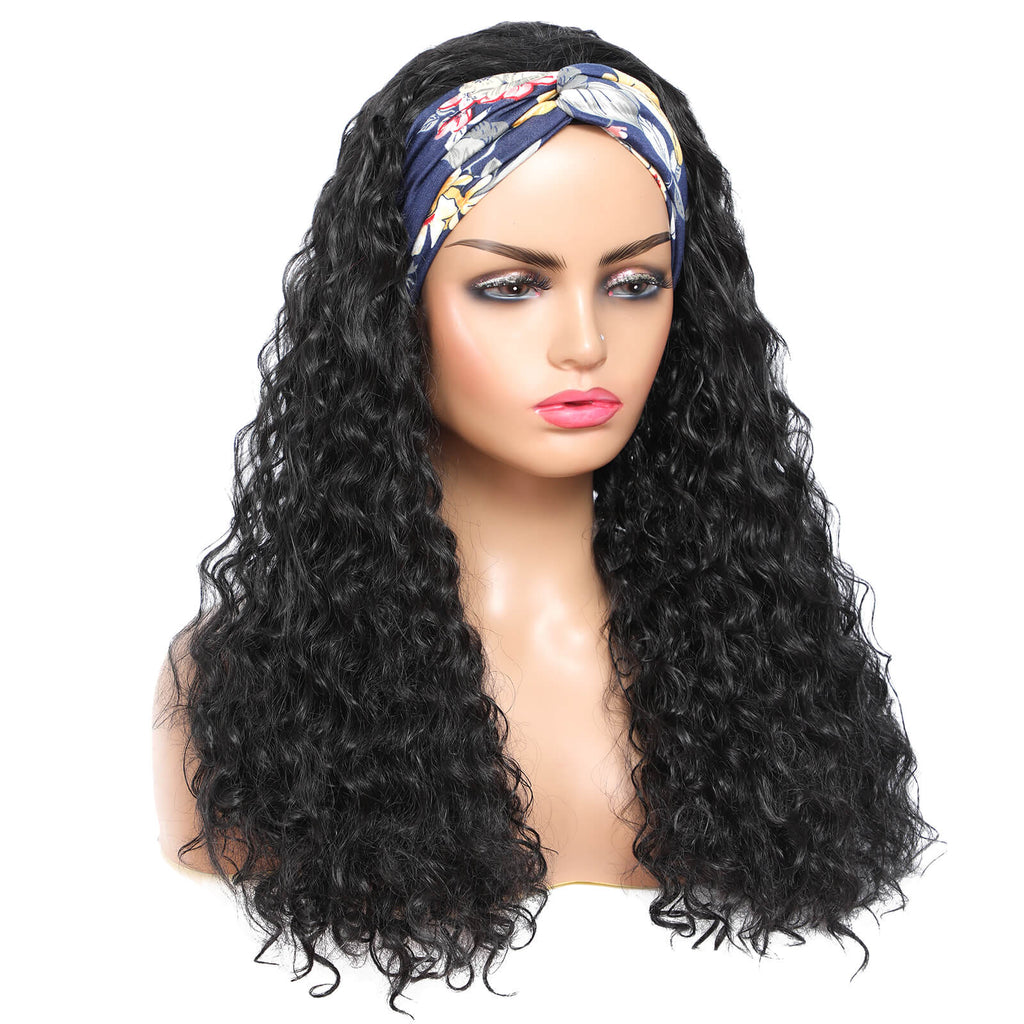 Bouncy And Full Curls Headband Wigs for African American Women