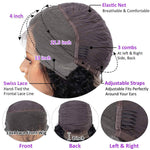 Water Wave Lace Front Wigs Human Hair Cap Show