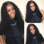 Deep Wave 4x4 Lace Closure Wig Human Hair Wigs For Black Women Customer Show