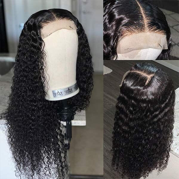 Deep Wave 4x4 Lace Closure Wig Human Hair Wigs For Black Women Product Show