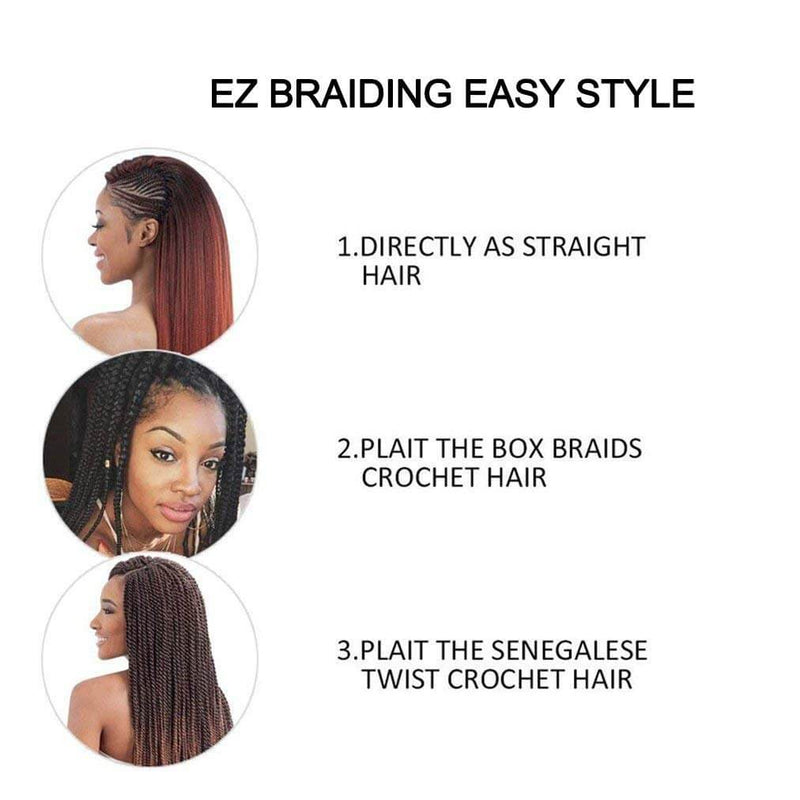 Easy Braids Synthetic Fibers Braiding Hair Silver Use Method