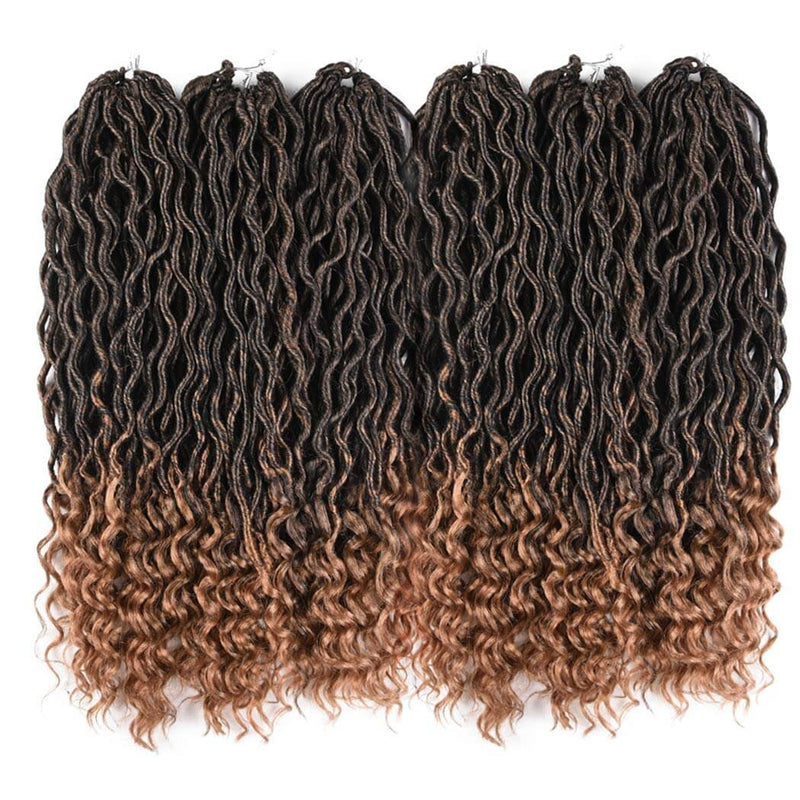 Goddess Faux Locs Crochet Hair Braids #27 6 Packs