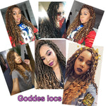 Goddess Faux Locs Crochet Hair Braids #27 Customer Show