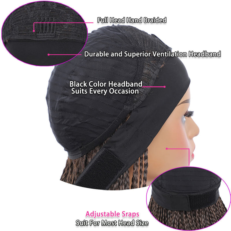 Headband Wigs Box Braided Wigs For Black Women Cap Design