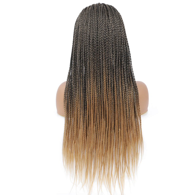 Headband Wigs Box Braided Wigs For Black Women Color Blonde Back Show