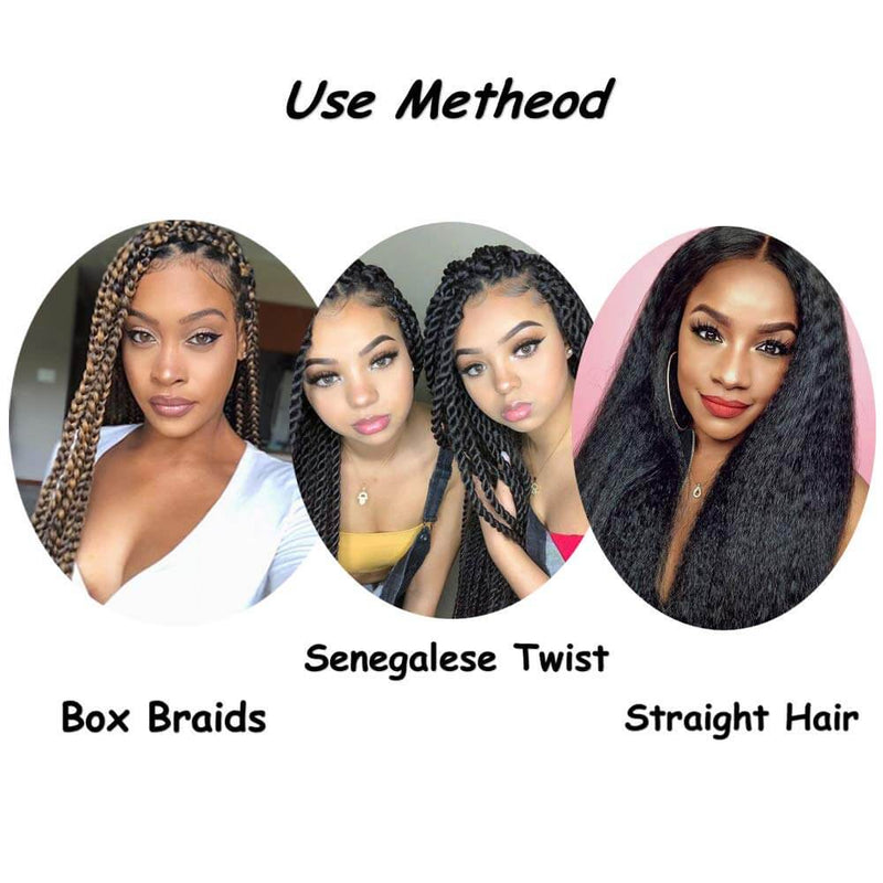 Natural Black Hair Extensions E Z Braid Customers Show