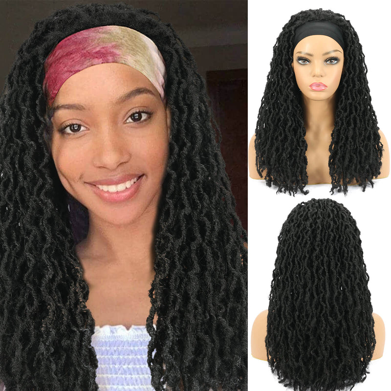 Nu Locs Headband Wigs for Black Women Black Color Braided Wigs