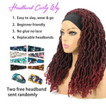 Nu Locs Headband Wigs for Black Women Burgundy Red Color Braided Wigs Features