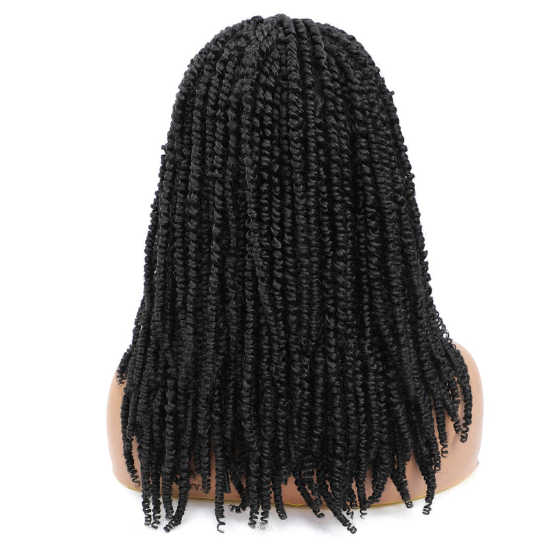Passion Twist Braided Wigs For Black Women Black Wig Back Show