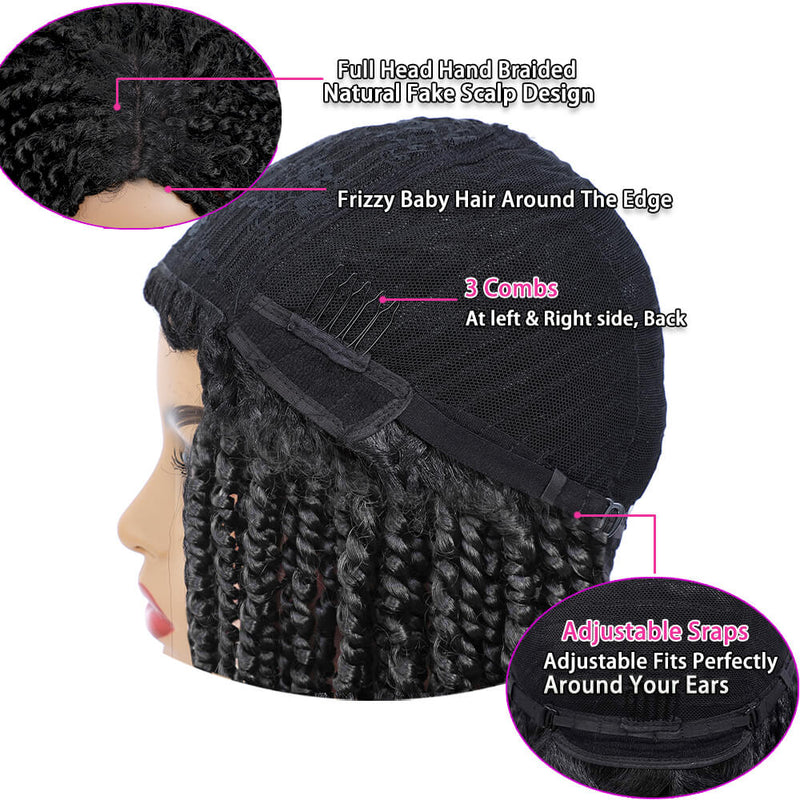 Passion Twist Braided Wigs For Black Women Black Wig Detial Description