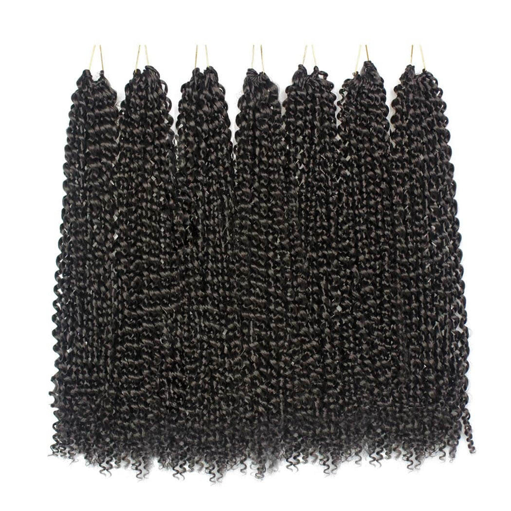 Passion Twist Crochet Braids  #4 Black Synthetic Heat Resistant Fiber Product Show