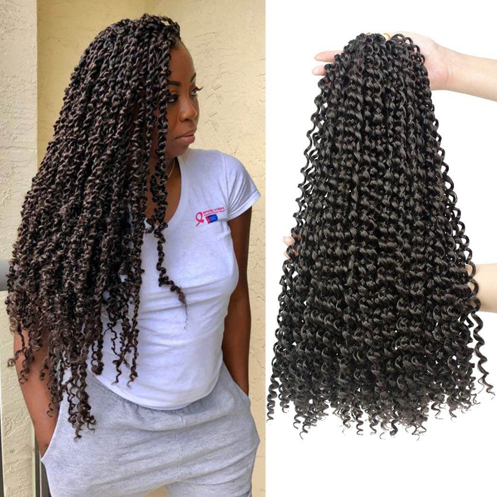 Passion Twist Crochet Braids  #4 Black Synthetic Heat Resistant Fiber