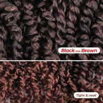 Passion Twist Hair Ombre Brown Synthetic Braided Hair Extension Middle And Ends Show