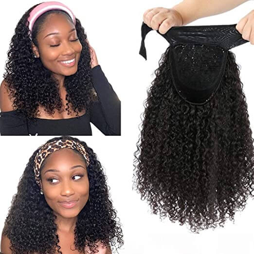 Rosebony Curly Hair Headband Wigs Human Hair Product Show