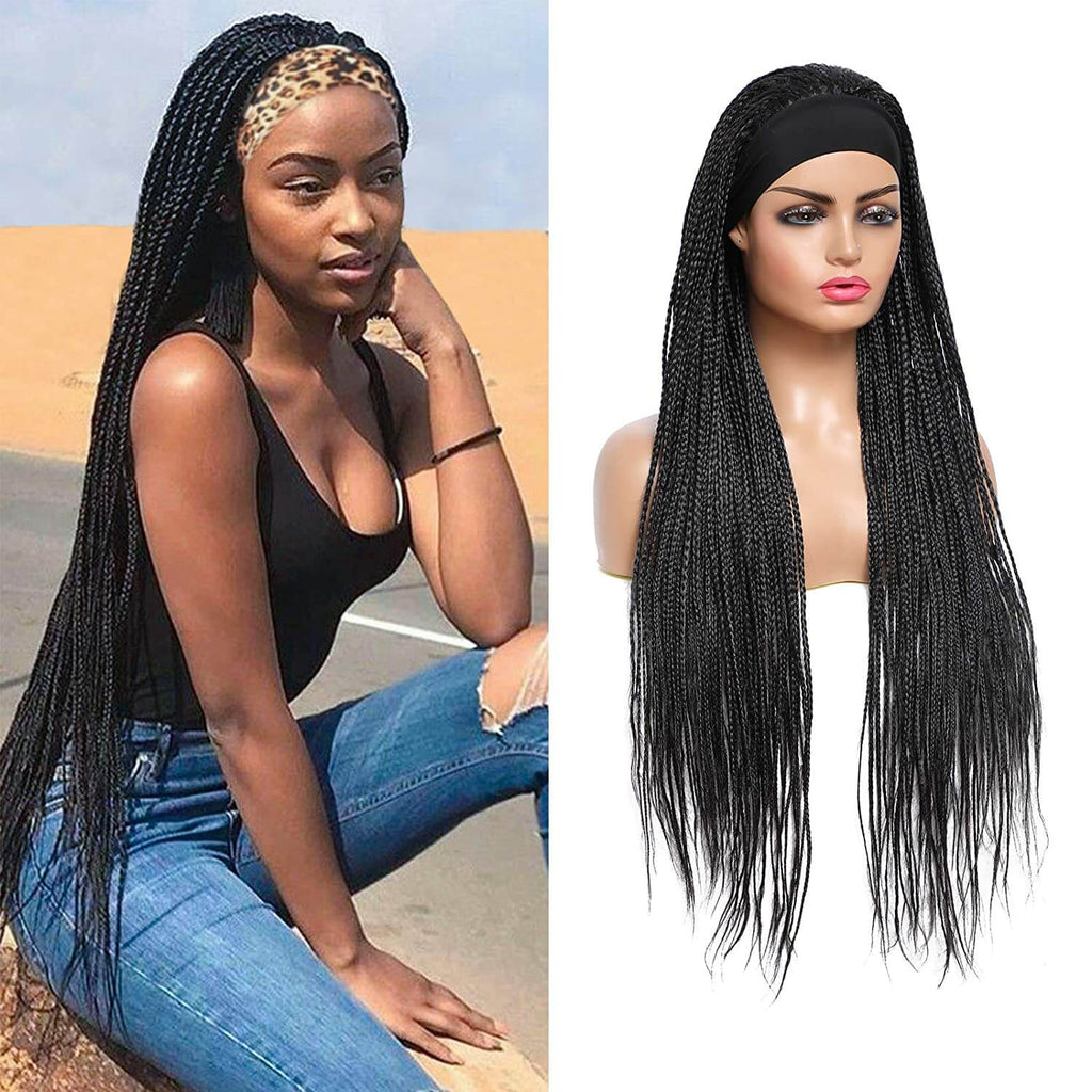 Rosebony Headband Box Braided Wigs for Black Women