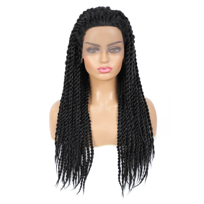 Senegalese Twist Briaded Lace Front Wigs Synthetic 22 inch
