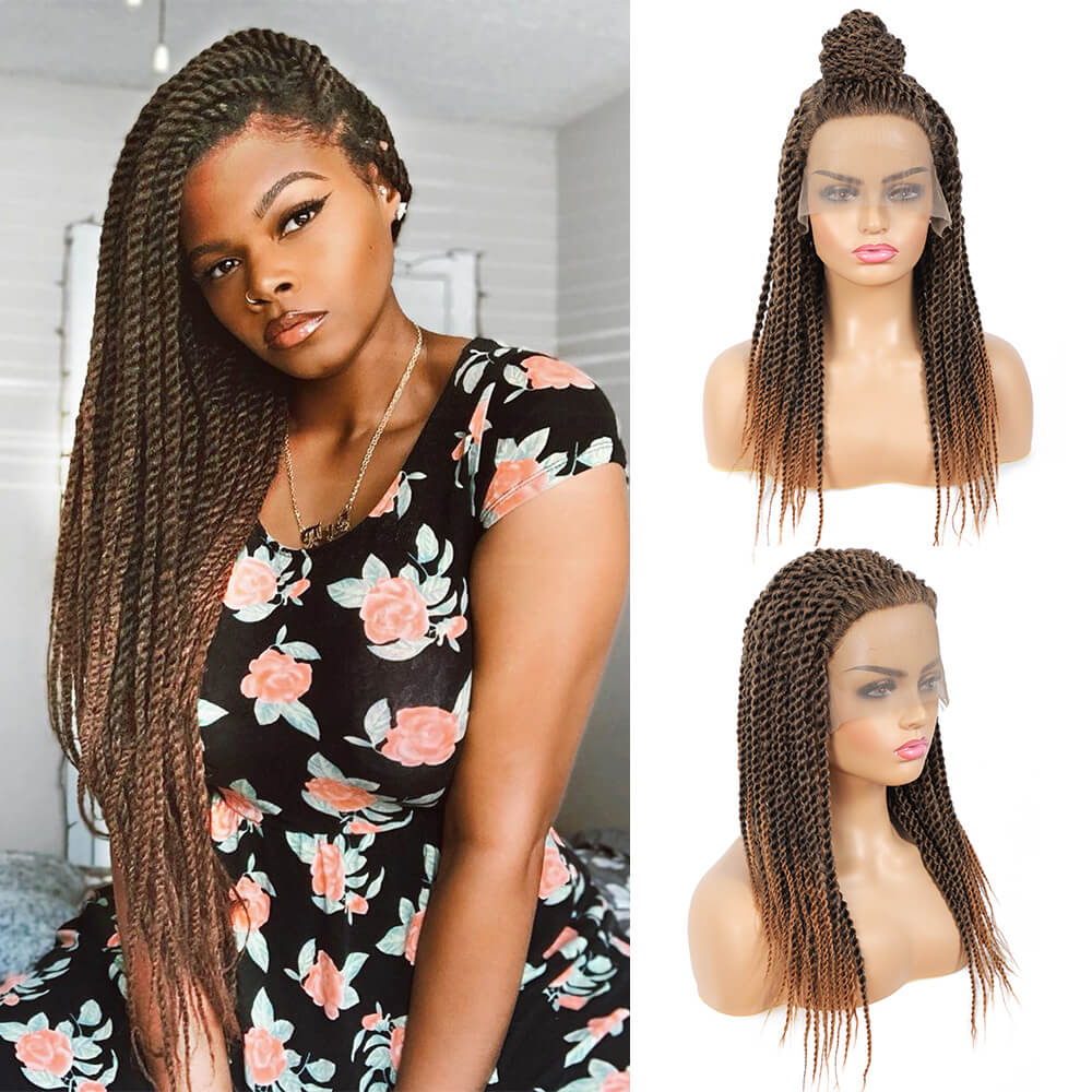 Senegalese Twist Briaded Lace Front Wigs Synthetic 22inch