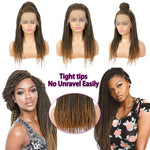 Senegalese Twist Briaded Lace Front Wigs Synthetic 27 22inch Tight tips