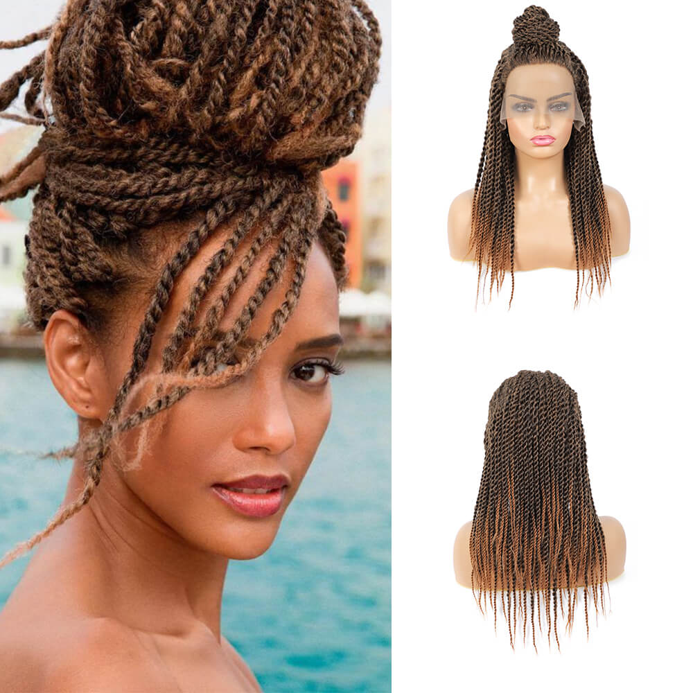 Senegalese Twist Briaded Lace Front Wigs Synthetic 30 20inch