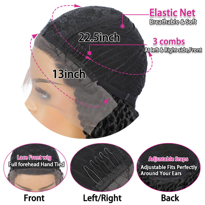Senegalese Twist Briaded Lace Front Wigs Synthetic Cap Desigh