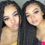 Senegalese Twist Briaded Lace Front Wigs Synthetic Customer Show