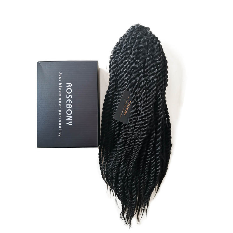 Senegalese Twist Briaded Lace Front Wigs Synthetic Package Show