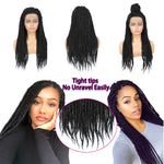 Senegalese Twist Briaded Lace Front Wigs Synthetic Tight Ends