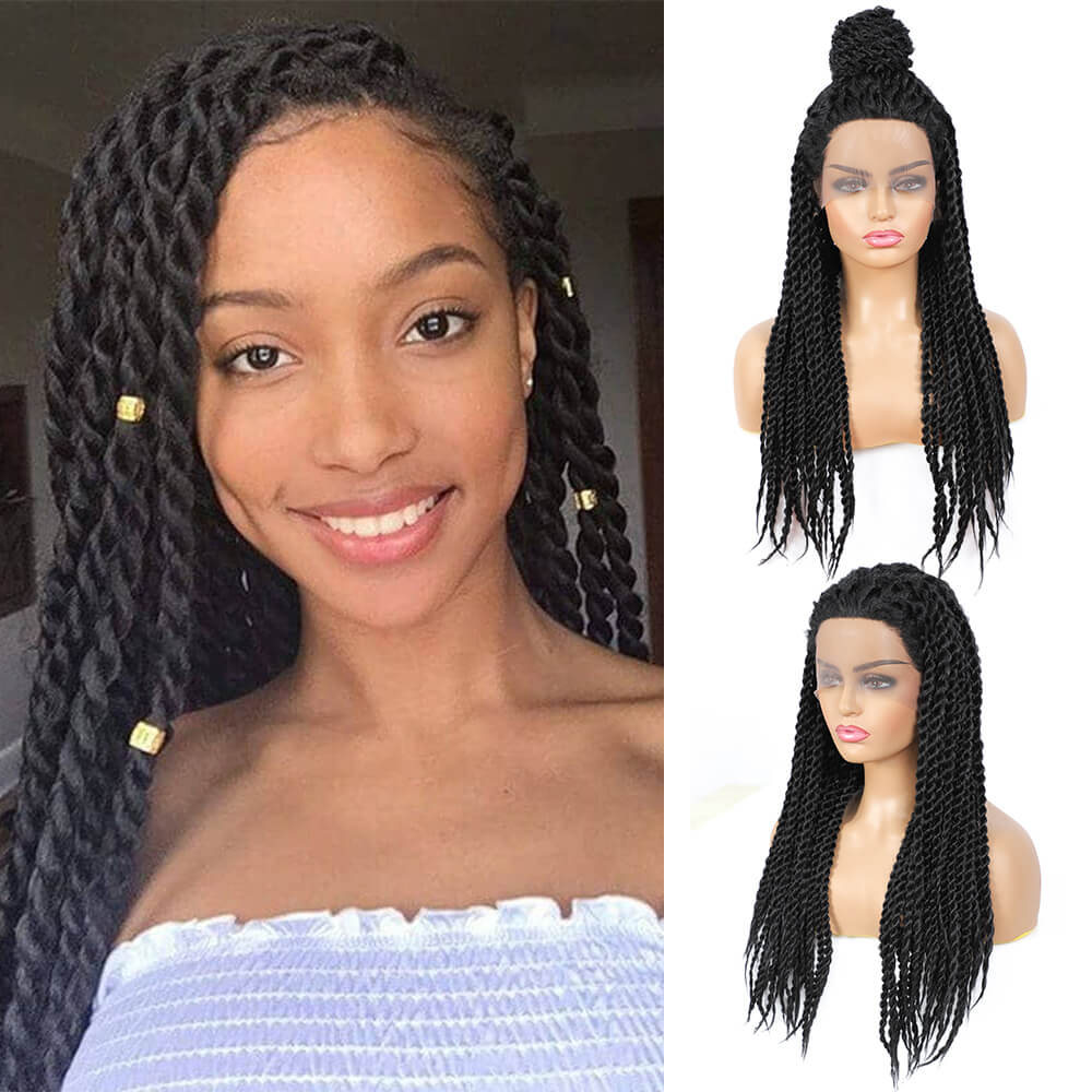Senegalese Twist Briaded Lace Front Wigs Synthetic