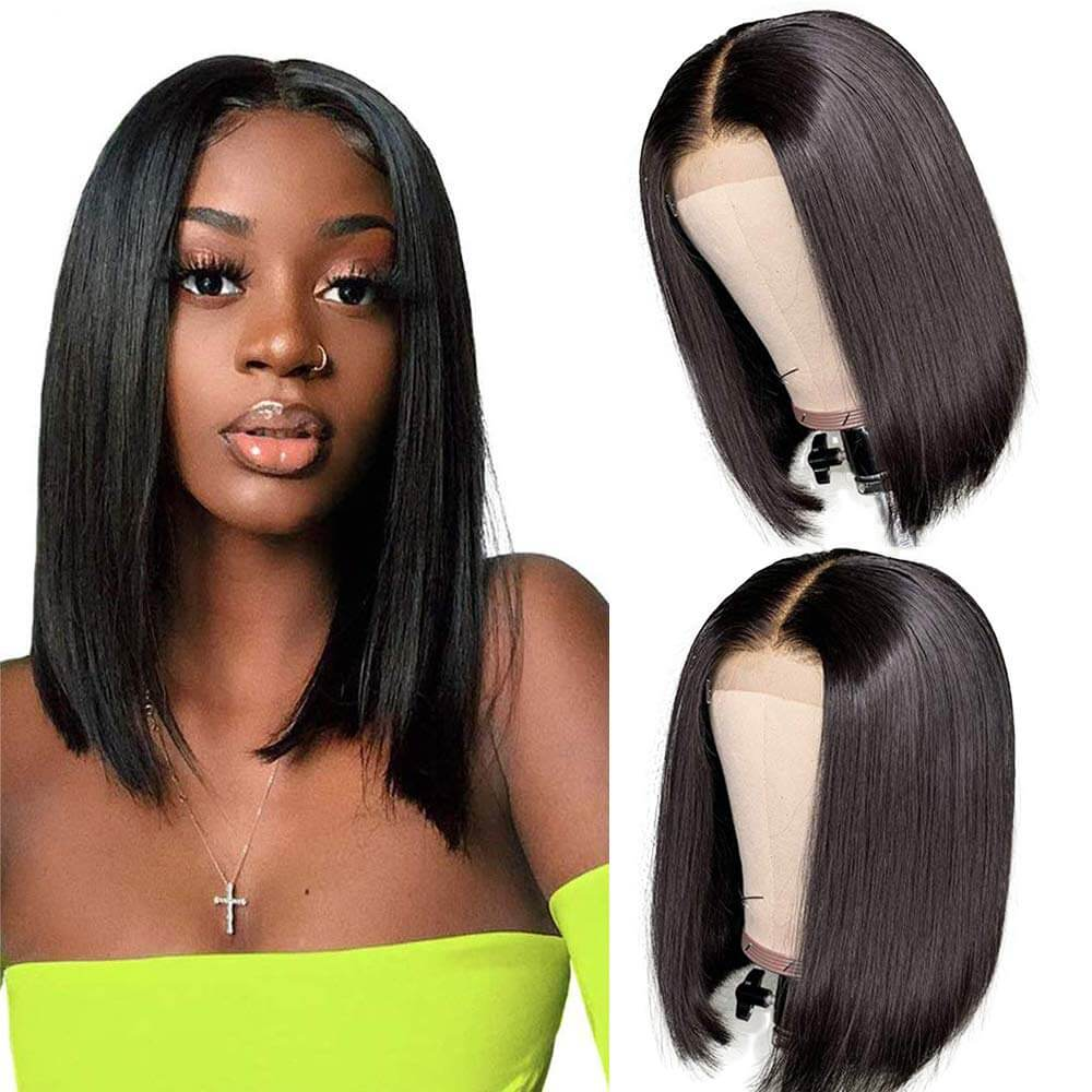Straight Bob Lace Front Wigs Human Hair