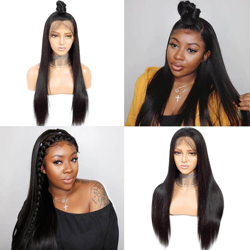 Straight Hair Lace Front Wigs Human Hair Products Show