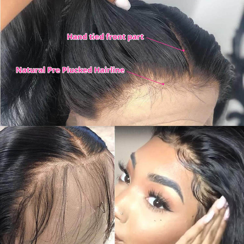 Synthetic Straight Lace Front Wigs Baby Hair Show