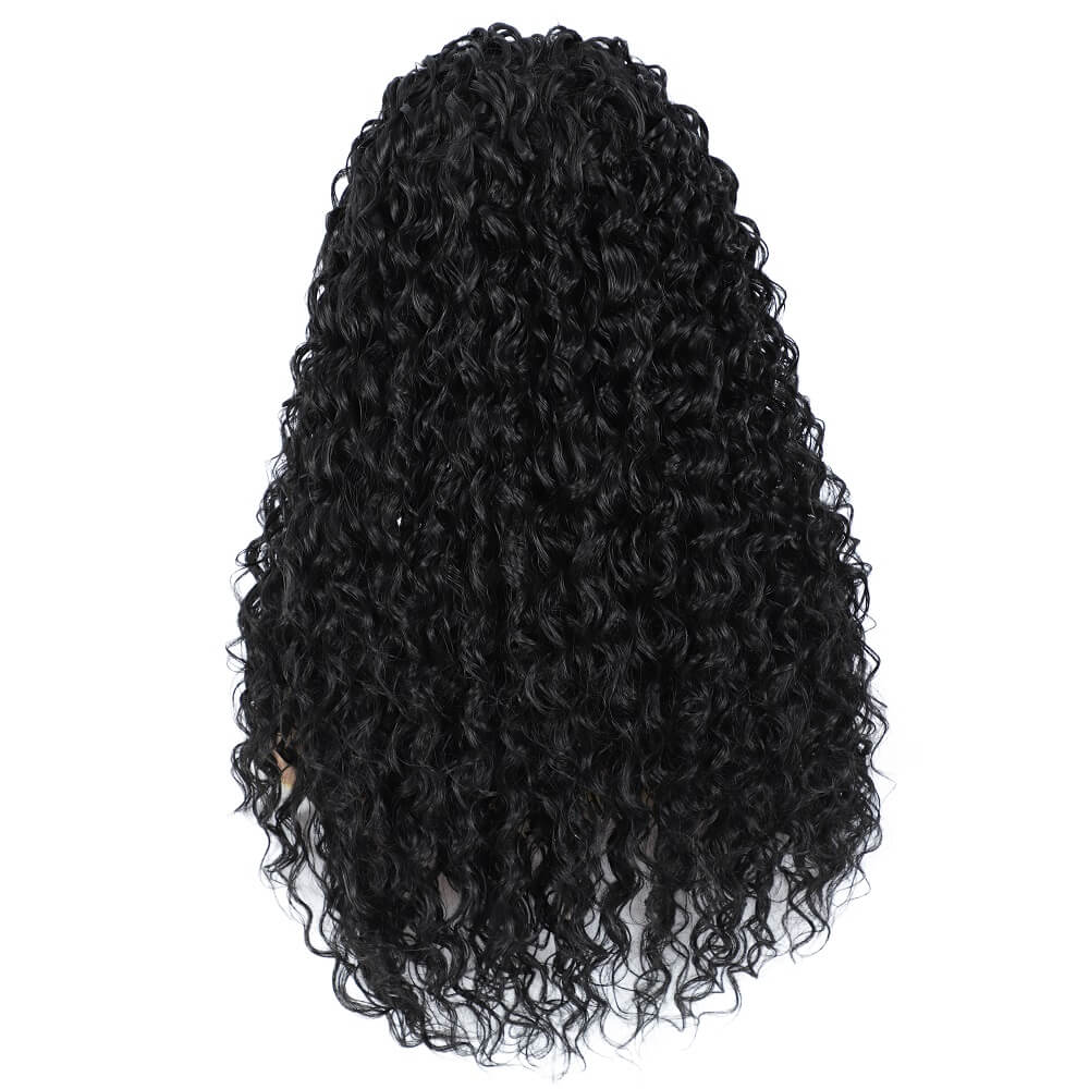 Synthetic Water Wave Lace Front Wigs Back Show