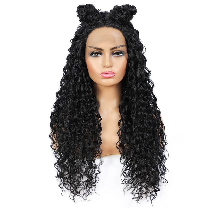 Synthetic Water Wave Lace Front Wigs Front Show