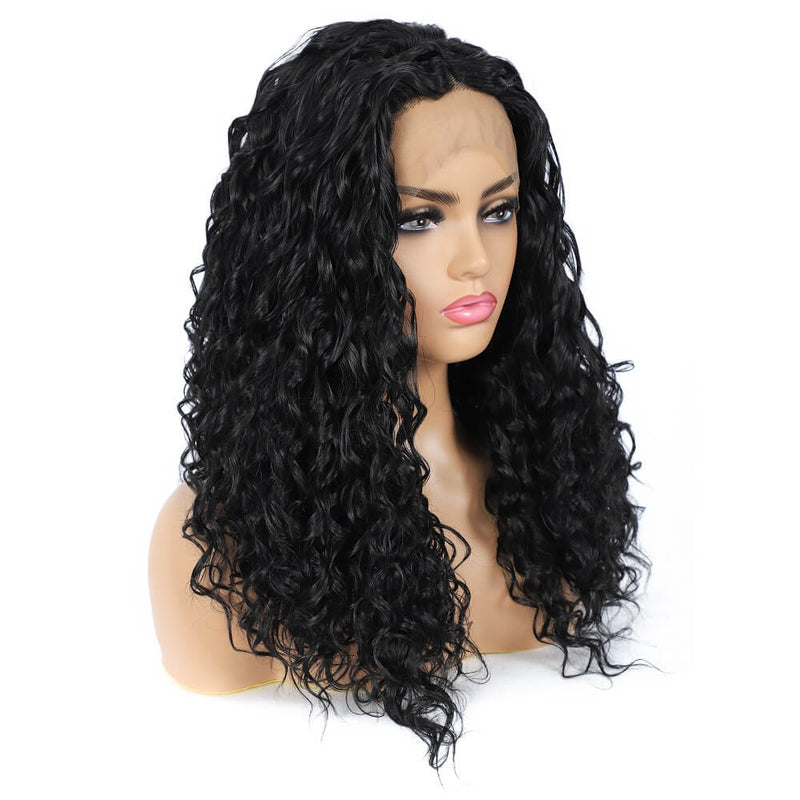 Synthetic Water Wave Lace Front Wigs Side Show