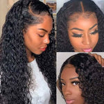Water Wave Lace Closure Wig Human Hair Wigs For Black Women Customer Show