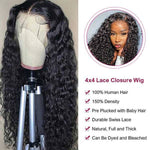 Water Wave Lace Closure Wig Human Hair Wigs For Black Women Description
