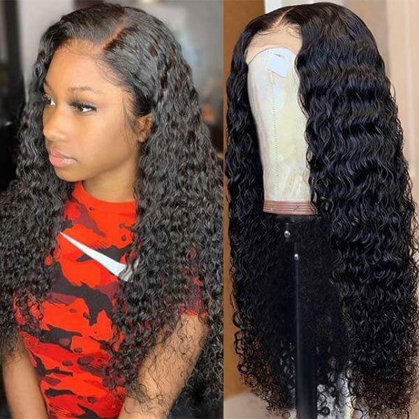 Water Wave Lace Closure Wig Human Hair Wigs For Black Women