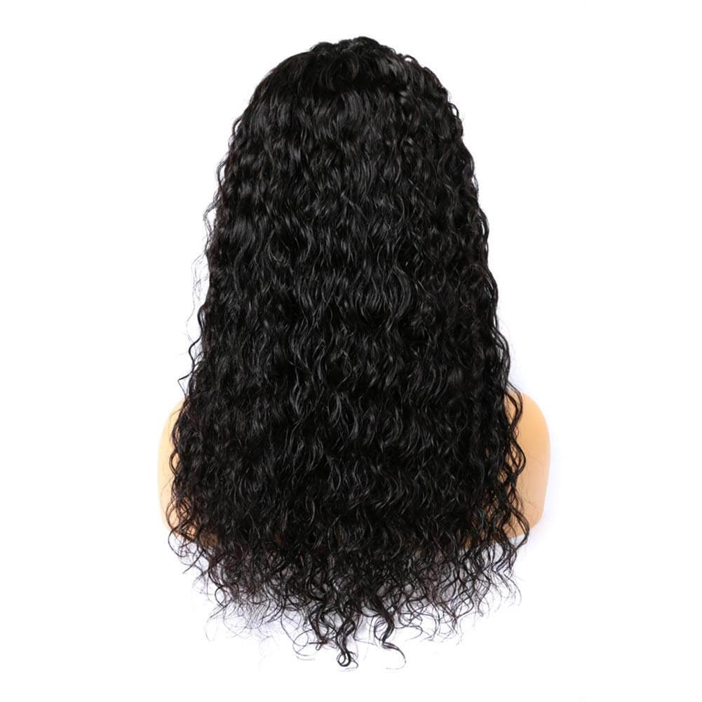 Water Wave Lace Front Wigs Human Hair Back Show