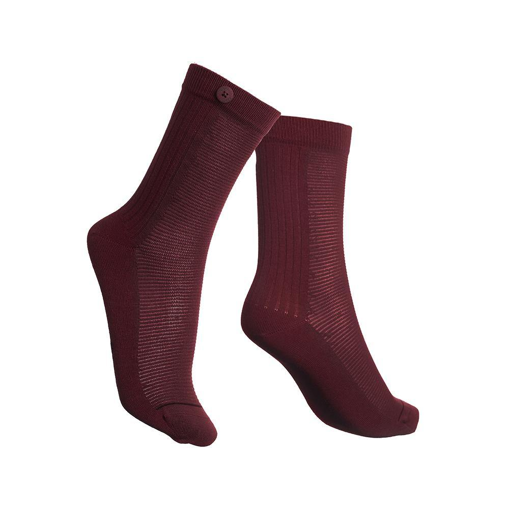 Damensocke 2 Way Rib - Bordeaux