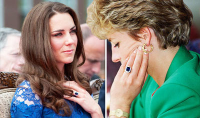 Kate Middleton and Princess Diana Engagement rings