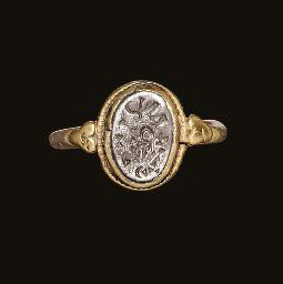 Visigothic gold and silver ring