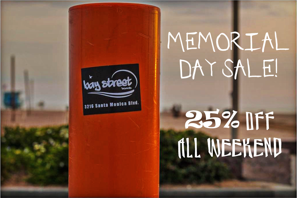 Memorial Day Sale Flyer - 25% OFF ALL WEEKEND