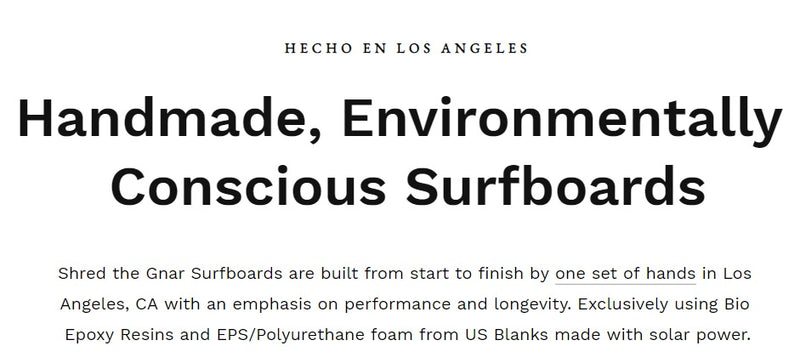 STG Eco Friendly Handmade Surfboards