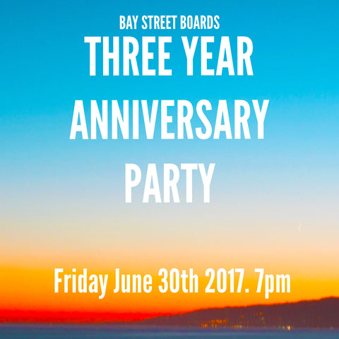 Bay Street Anniversary Party Flyer