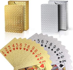 Luxury Diamond Playing Cards LuckCharmer Gold + Silver 🔥 ($22.99 ONLY!!)